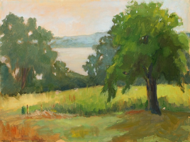 shelley lowenstein plein air oil painting landscape river farm virginia potomac river george washington