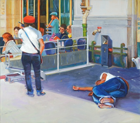 lowenstein homelessness in Paris  Gare de Lyon immigration
