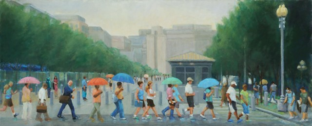 narrative figurative rainy day washington,dc crowd white house lowenstein
