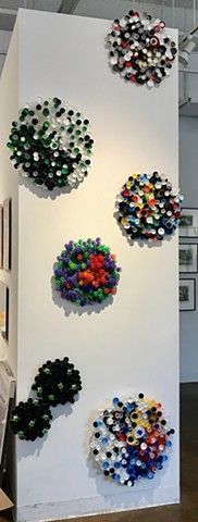 shelley lowenstein beta cells art and science biology abstracts bottle caps 3-D recycling