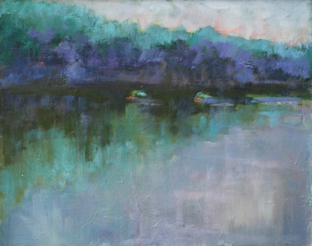 shelley lowenstein plein air oil painting landscape river bend potomac river virginia