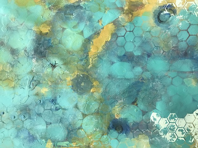 shelley lowenstein beta cells art and science biology abstracts spray paint acrylic oil