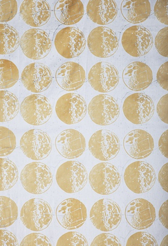 Moon, Constellation, Screen Printing, Textile, Print and Pattern, Laura Schneider