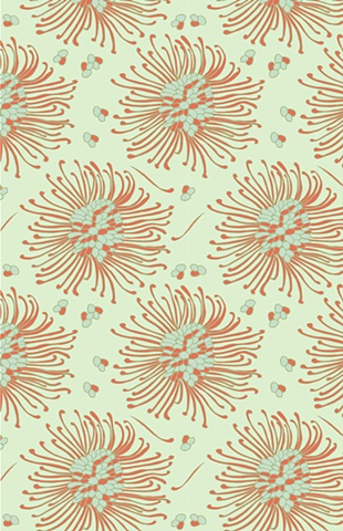 Contemporary, Floral, Print and Pattern, Textile, Laura Schneider