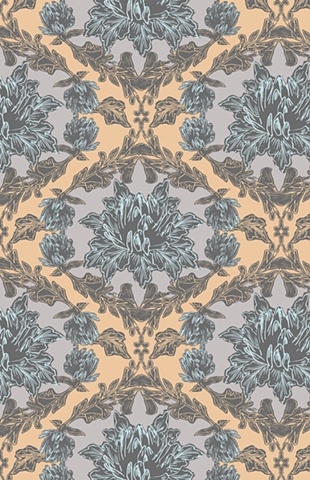 Traditional, Floral, Textile, Print and Pattern, Laura Schneider