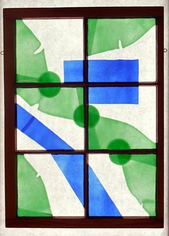 window glass, old window.