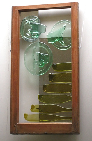 recycled glass, mirror