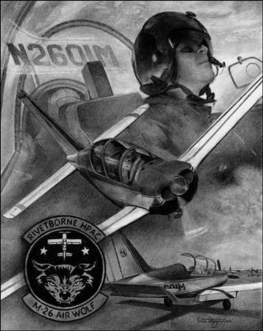 M-26 Airwolf aviation art