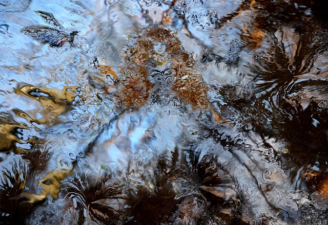 Digital photographs of water surface, composed in photoshop