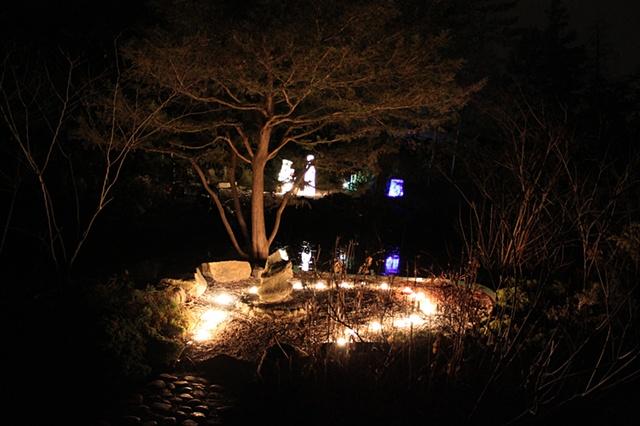 Untitled (Installation at Cranbrook's Oriental Garden)