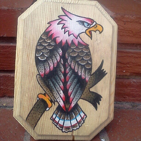sailor jerry boxing eagle tattoo  Eagle from a Sailor Jerry