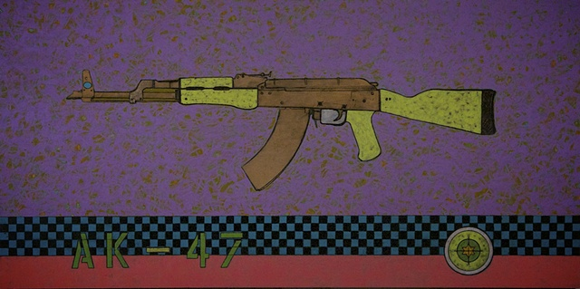 AK-47 painting life size for sale and t-shirts