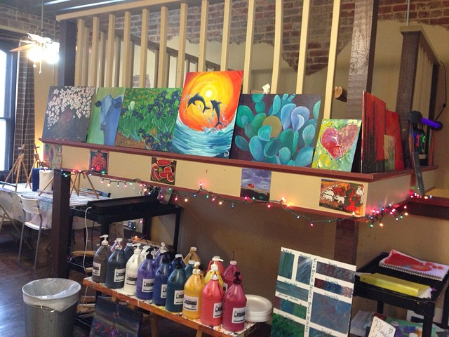 An artistic studio will encourage creativity!