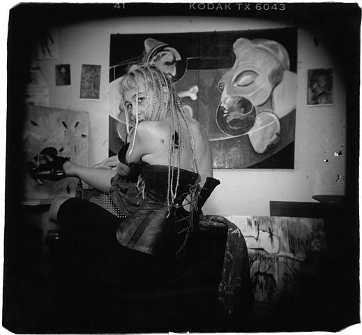 Holga portrait of artist