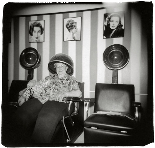 Holga photo of a beauty parlor