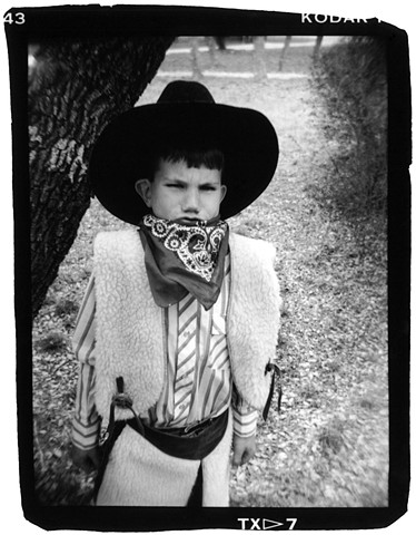 Holga portrait of boy in cowboy outfit
