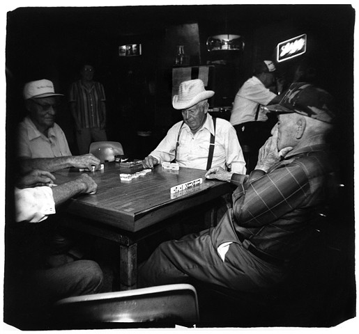 Holga photo of men in Blanco, Texas