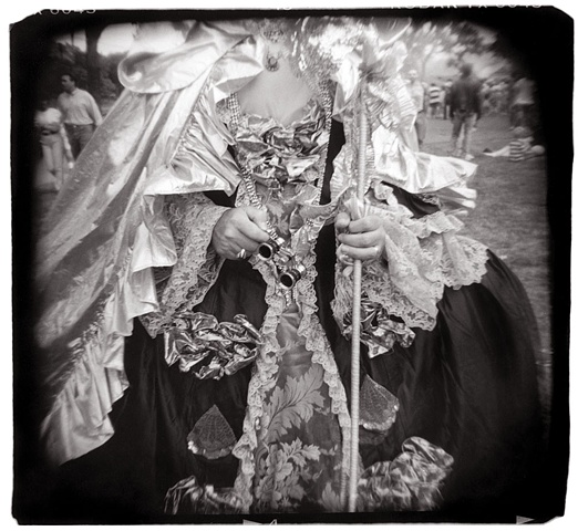 Holga photo of man in costume