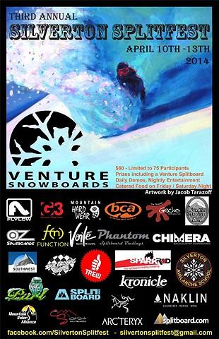 2014 Silverton Splitfest  poster