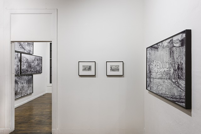 Installation view at Commonwealth and Council, Los Angeles