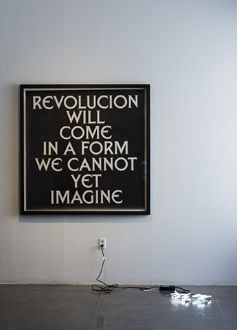 Untitled (Revolucion will come in a form we cannot yet imagine)