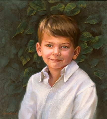 Pastel Portrait of a Young Boy by Sally Baker Keller