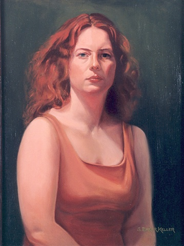 Oil Portrait of Young Woman by Sally Baker Keller