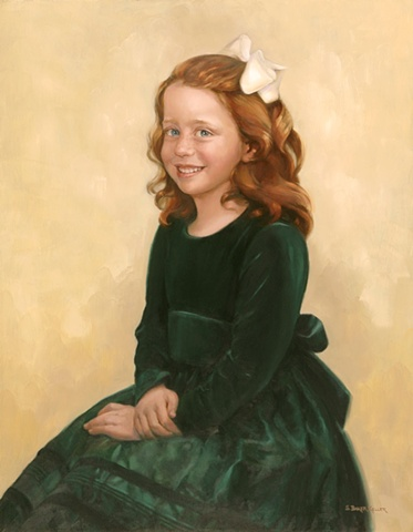 Oil Portrait of a Young Girl by Sally Baker Keller