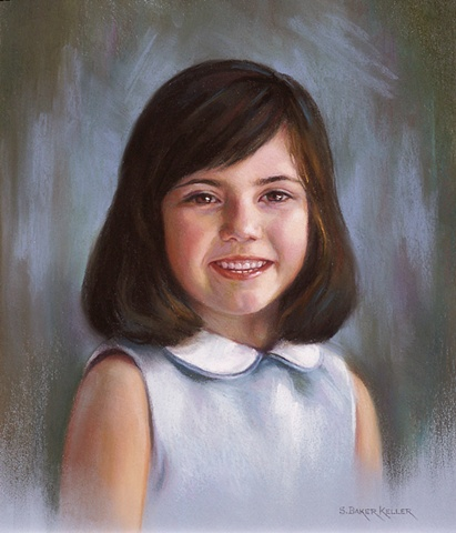 Pastel Portrait of a Young Girl by Sally Baker Keller