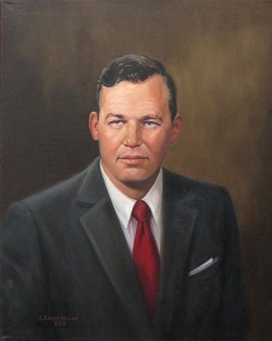 Oil Portrait of a Business Man by Sally Baker Keller