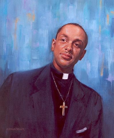Oil Portrait of a Clergyman by Sally Baker Keller