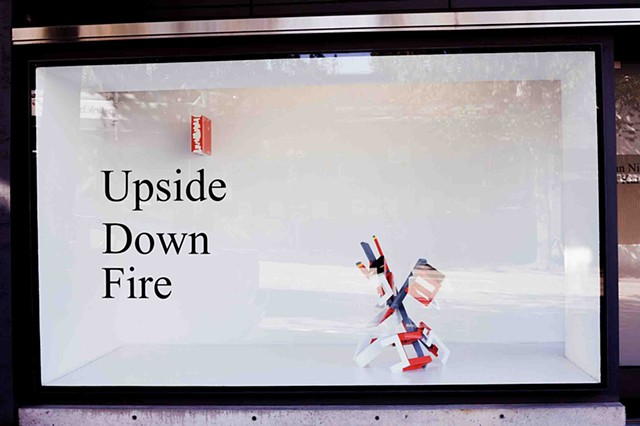 Upside Down Fire Installation view