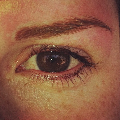 Eye lash enhancement and eyebrow tattoo