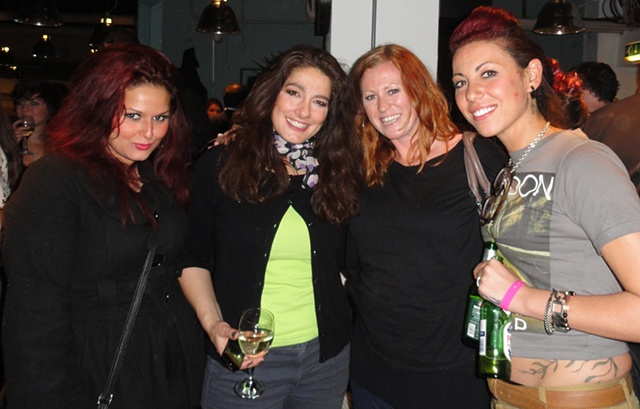 Jet, Susie and Sonia Strong at Celebrity Juice after party London April 2012