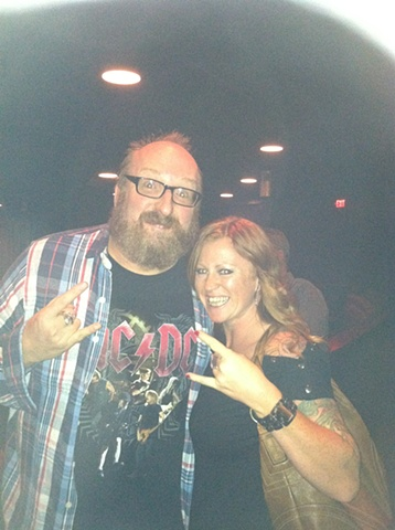 Susie rocks out with Brian Posehn