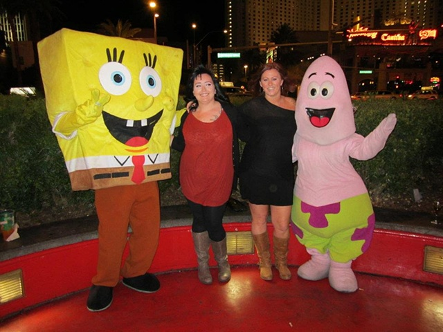 Samantha and Susie meet Sponge Bob