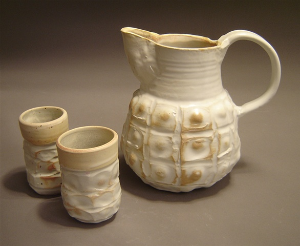 Wood-Fired Pitcher and Cup Set