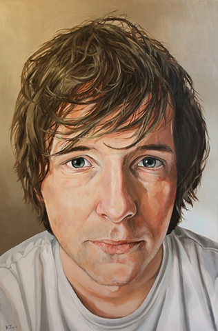 "Shaun, Portrait, Oil on Linen, 24"" x 36"""