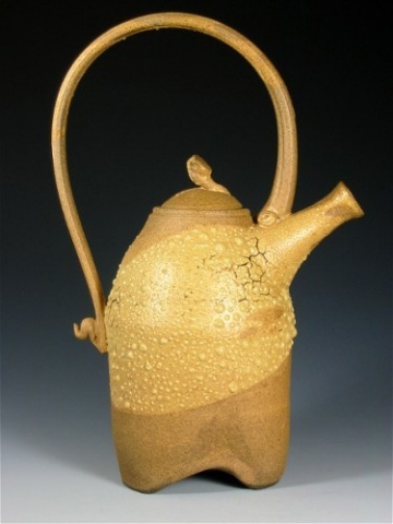Dry Tan Matte Textured Teapot