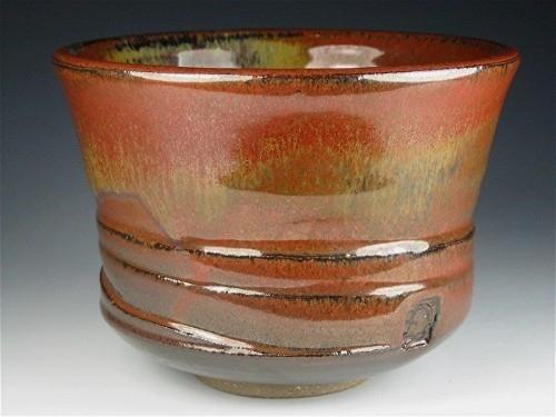 Tea Bowl - Red Iron Glaze