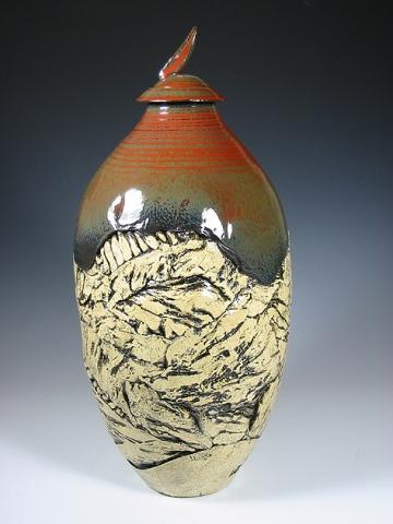 Large Textured Urn