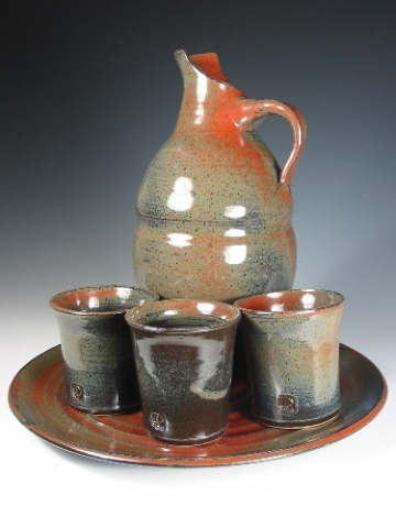 Pitcher, 3 Cups & Tray
