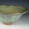Carved Rim Bowl  -  Green Crystal