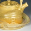 Yellow Ash Teapot With Tray