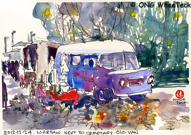 20121224 Old Van next to Cemetary @ Warsaw