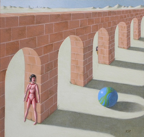 surrealism oil on panel by artist Karen S. Purdy