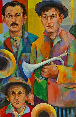 Horn Players in a Vagabond Band