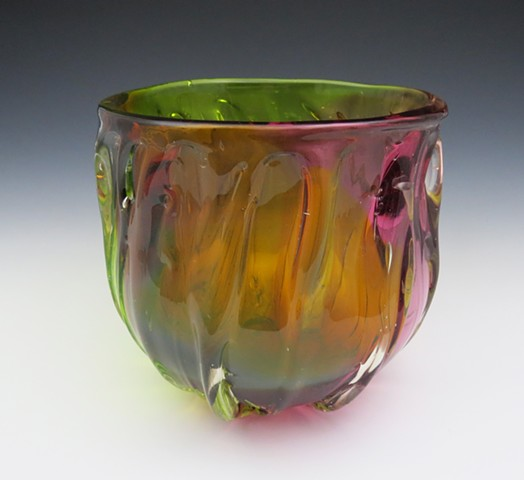 Gold Fuchsia Fade Bowl