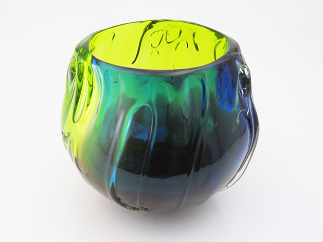 Aqua Fade Bowl - 2014 Pratt Auction Donation