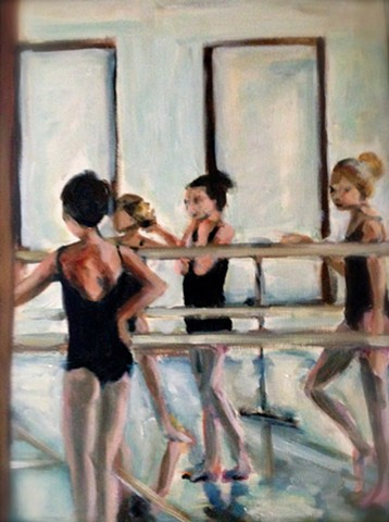 Ballet dancers in the studio